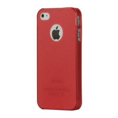 Tunn skal till iPhone 4 4s i röd/rosa färg