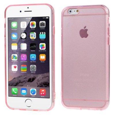 Flexibelt Slim Skal till Apple iPhone 6 Rödrosa