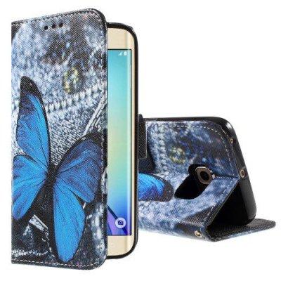 Plånboksfodral Samsung Galaxy S6 Edge Blue Butterfly