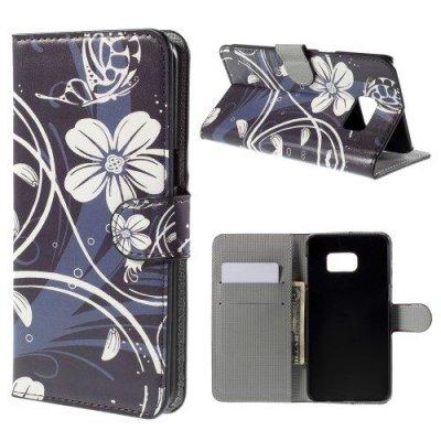 Plånboksfodral till Samsung Galaxy S6 Edge Plus fjärilsblomma