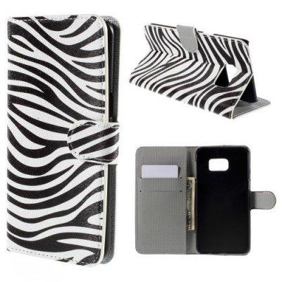 Plånboksfodral till Samsung Galaxy S6 Edge Plus Zebra