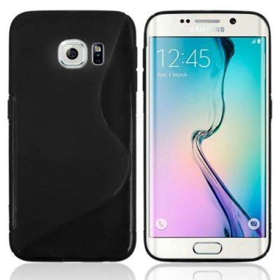 Flexibelt Skal S-Design till Samsung Galaxy S6 Edge Svart