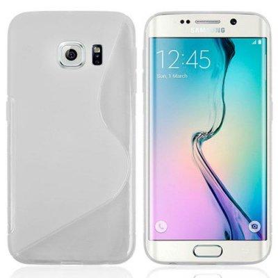 Flexibelt Skal S-Design till Samsung Galaxy S6 Edge Transparant