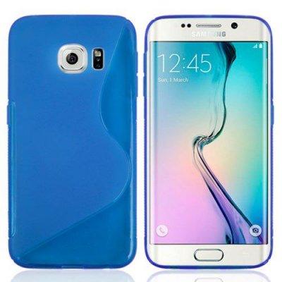 Flexibelt Skal S-Design till Samsung Galaxy S6 Edge Blå