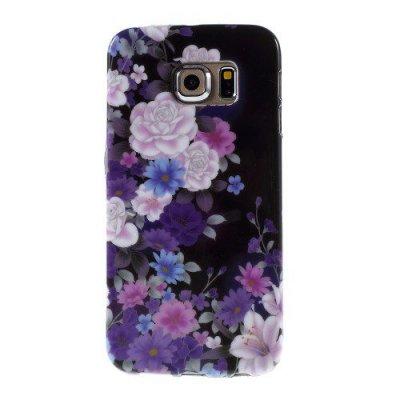 Flexibelt Skal till Samsung Galaxy S6 Edge Färgglada blommor