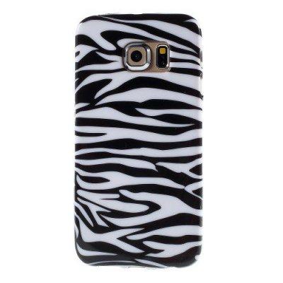 Flexibelt Skal till Samsung Galaxy S6 Edge Zebra