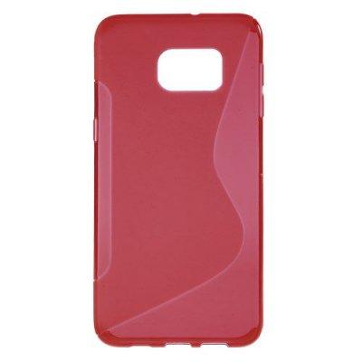 Flexibelt Skal S-Design till Samsung Galaxy S6 Edge Plus Röd
