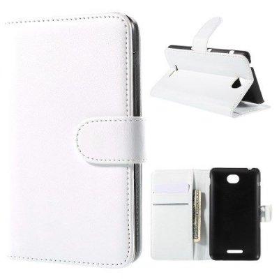 Plånboksfodral till Sony Xperia E4 Vit