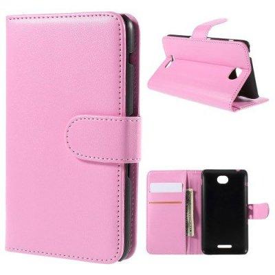 Plånboksfodral till Sony Xperia E4 Rosa