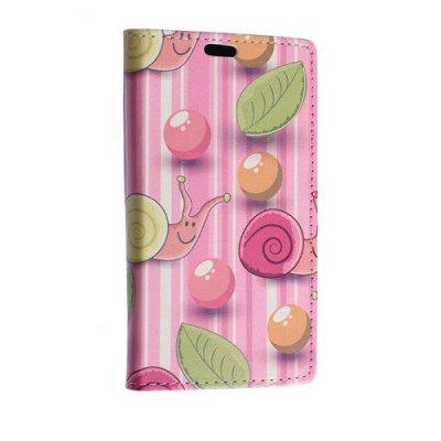 Plånboksfodral till Sony Xperia E4g Sniglar och ballonger - Rosa