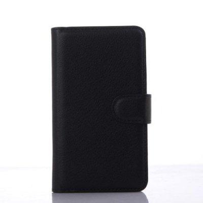 Plånboksfodral Litchi till Sony Xperia E4g Svart