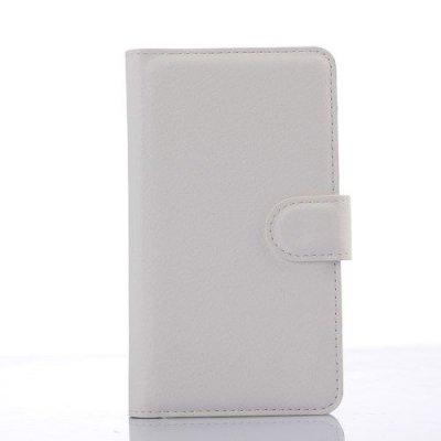 Plånboksfodral Litchi till Sony Xperia E4g Vit