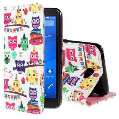 Plånboksfodral Sony Xperia E4 Party ugglan