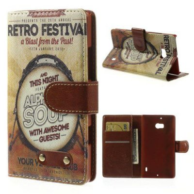 Plånboksfodral Vintage till Nokia Lumia 930 - Retro festival