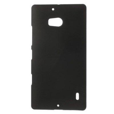 Hårt Skal Nokia Lumia 930 Svart med gummiyta för bättre grepp