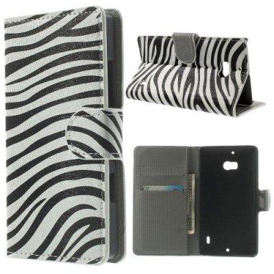 Plånboksfodral till Nokia Lumia 930 Zebra