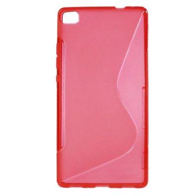 Flexibelt S-Design Skal till Huawei Ascend P8 Röd