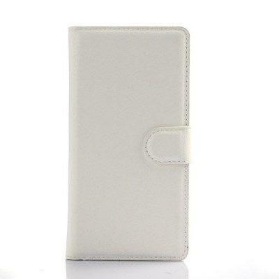 Plånboksfodral till Huawei Ascend P8 Litchi Grain i Vit