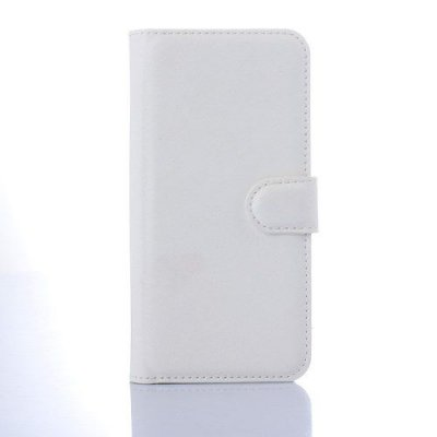 Plånboksfodral till HTC One M9 Litchi Grain Vit