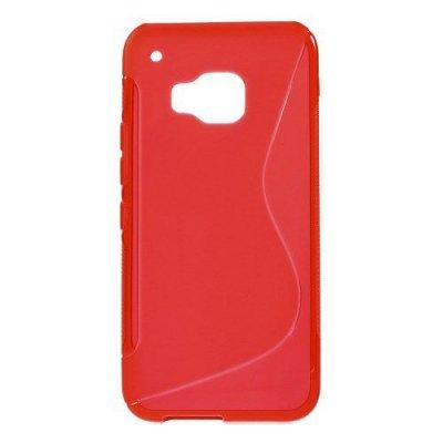 Flexibelt Skal S-Design till HTC One M9 Röd