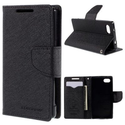 Plånboksfodral Fancy Diary till Sony Xperia Z5 Compact Svart