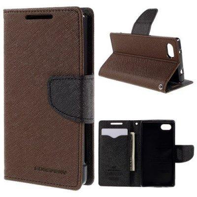 Plånboksfodral Fancy Diary till Sony Xperia Z5 Compact Brun