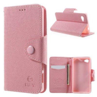 Plånboksfodral MLT till Sony Xperia Z5 Compact Rosa