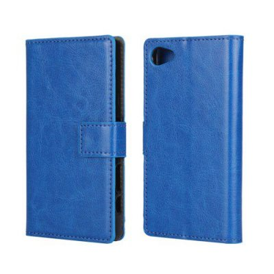 Plånboksfodral till Sony Xperia Z5 Compact Blå Crazy Horse