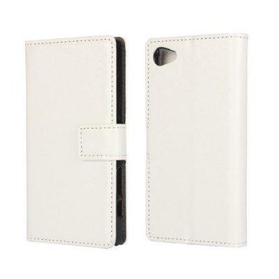 Plånboksfodral till Sony Xperia Z5 Compact Vit Crazy Horse
