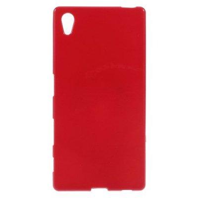 Flexibelt Skal till Sony Xperia Z5 Röd - TPU skal med blank yta