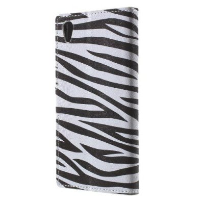 Plånboksfodral till Sony Xperia Z5 Zebra