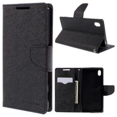 Plånboksfodral till Sony Xperia Z5 Svart Fancy Diary