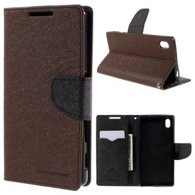 Plånboksfodral till Sony Xperia Z5 Brun Fancy Diary