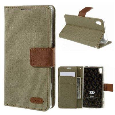 Plånboksfodral Roar till Sony Xperia Z5 Khakigrön