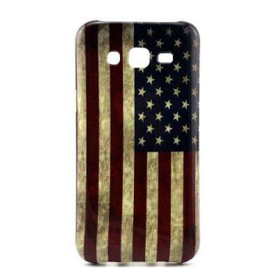 Flexibelt Skal till Samsung Galaxy J5 - Motiv Amerikanska flaggan
