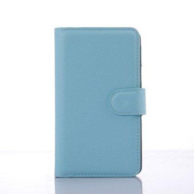 Plånboksfodral Litchi till Sony Xperia E4g Blå