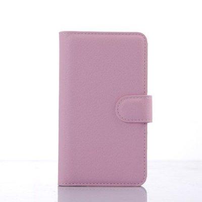 Plånboksfodral Litchi till Sony Xperia E4g Rosa