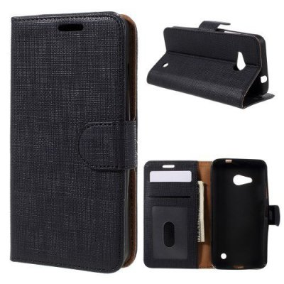 Plånboksfodral till Microsoft Lumia 550 - Svart texturerad yta
