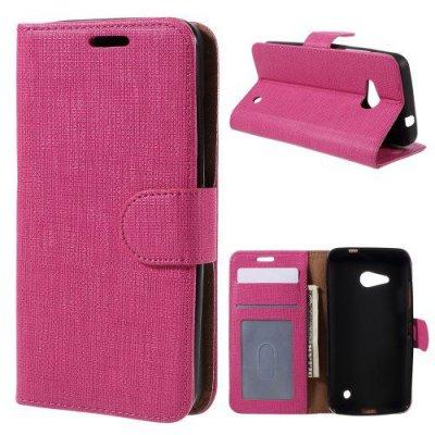 Plånboksfodral till Microsoft Lumia 550 - Rödrosa texturerad yta