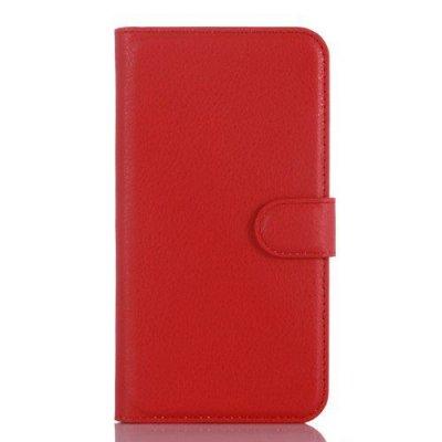 Plånboksfodral till Microsoft Lumia 550 - Röd litchi