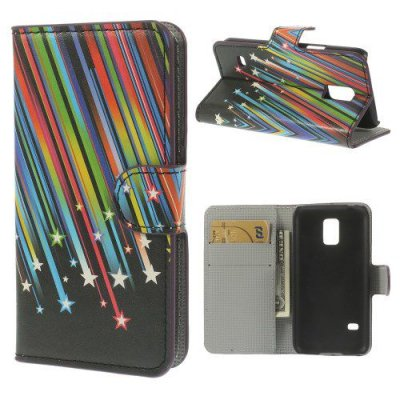 Plånboksfodral till Samsung Galaxy S5 Mini - Motiv Stjärnfall