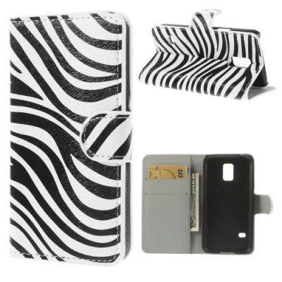 Plånboksfodral till Samsung Galaxy S5 Mini - Motiv Zebra