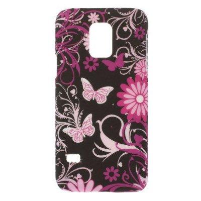 Hårt Skal till Samsung Galaxy S5 Mini - Motiv Fjärilar & blommor