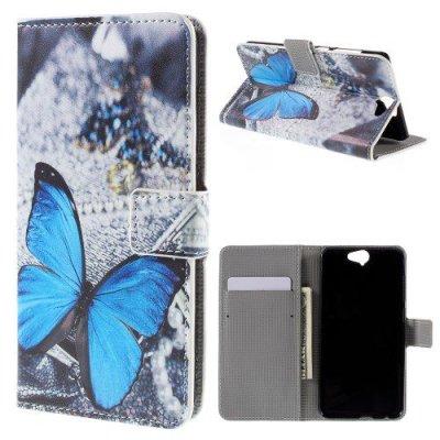 Plånboksfodral till HTC One A9 Blue Butterfly