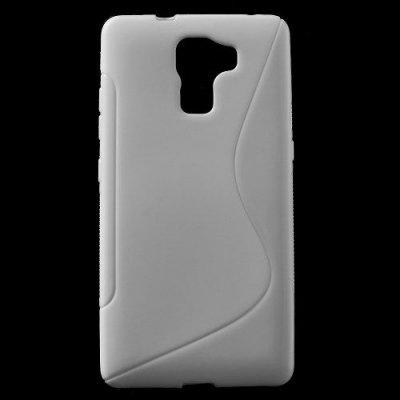Flexibelt Skal S-Design till Huawei Honor 7 Vit