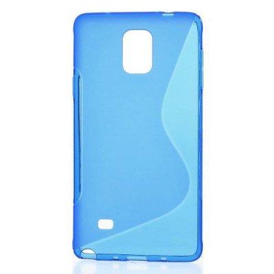 Flexibelt S-Design Skal till Samsung Galaxy Note 4 Blå