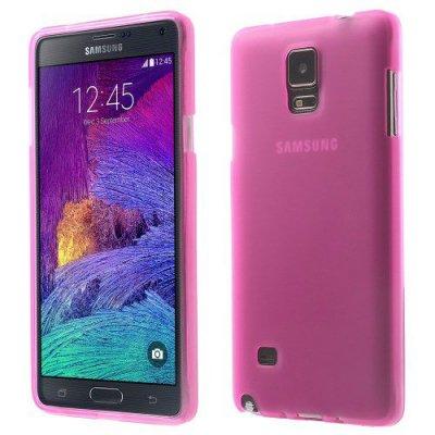 Flexibelt Skal till Samsung Galaxy Note 4 Rödrosa