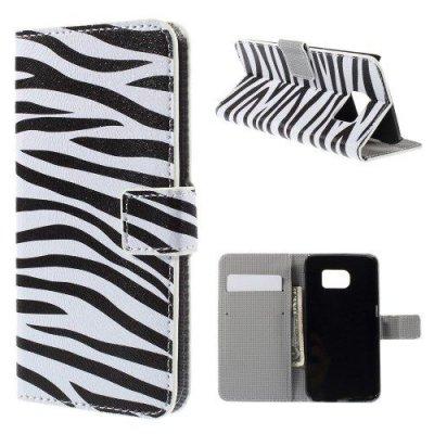 Plånboksfodral Zebra till Samsung Galaxy S6 Edge