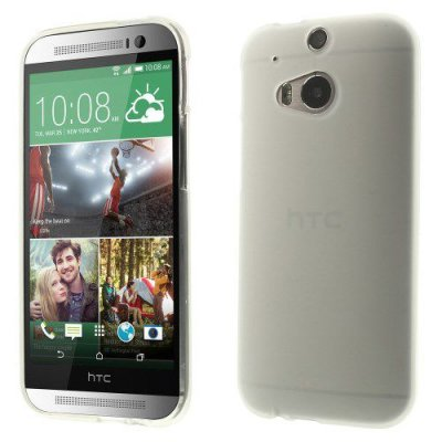 Skal HTC One (M8) TPU gel vit