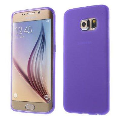 Flexibelt Lila Skal till Samsung Galaxy S6 Edge G925